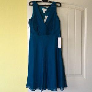 J. Crew teal size 6 (but fits like an 8) dress